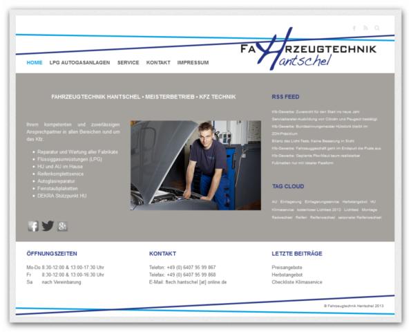 Fahrzeugtechnik Hantschel GmbH Relaunch 2013