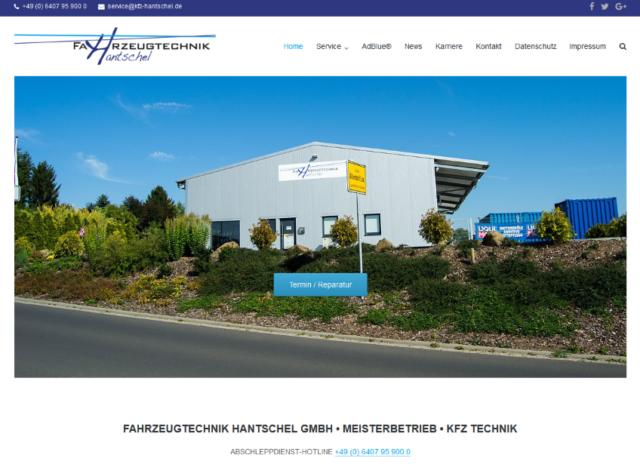 Fahrzeugtechnik Hantschel GmbH Relaunch 2016
