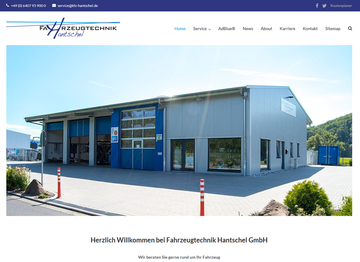 Fahrzeugtechnik Hantschel GmbH Relaunch 2018