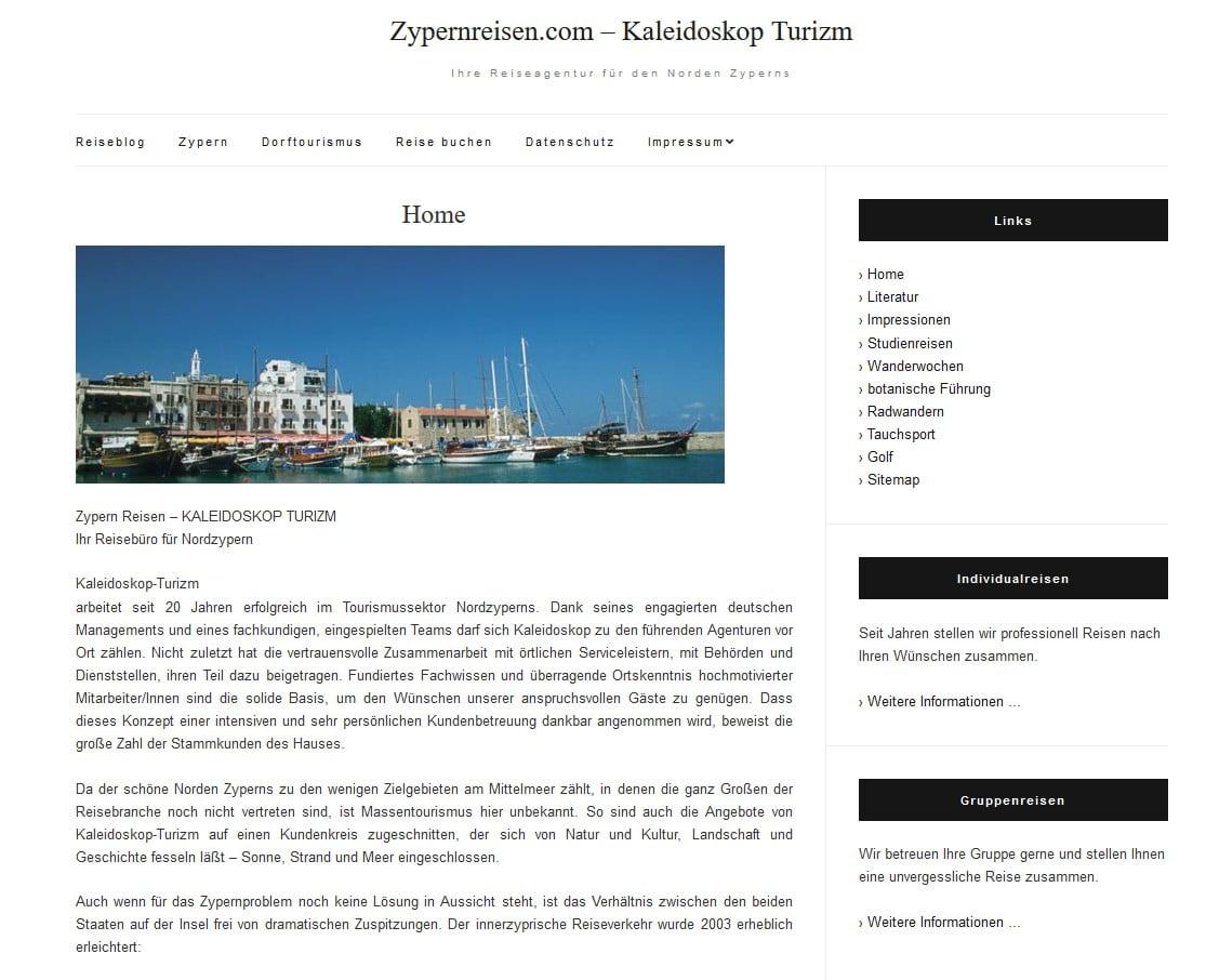 Zypernreisen Homepage seit 2018